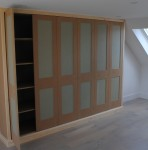 Wardrobe in loft room